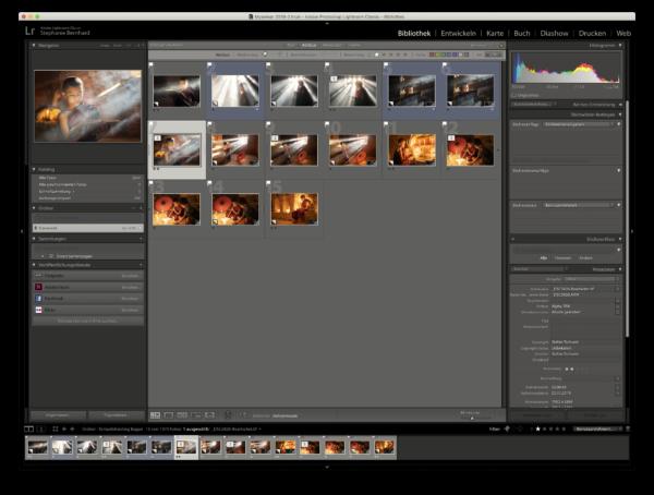 Lightroom Bildschirmfoto