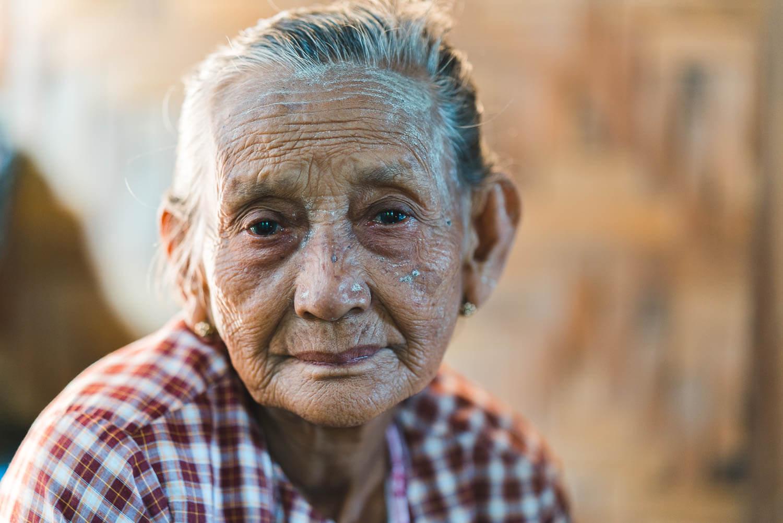 Taungoo alte burmesische Frau