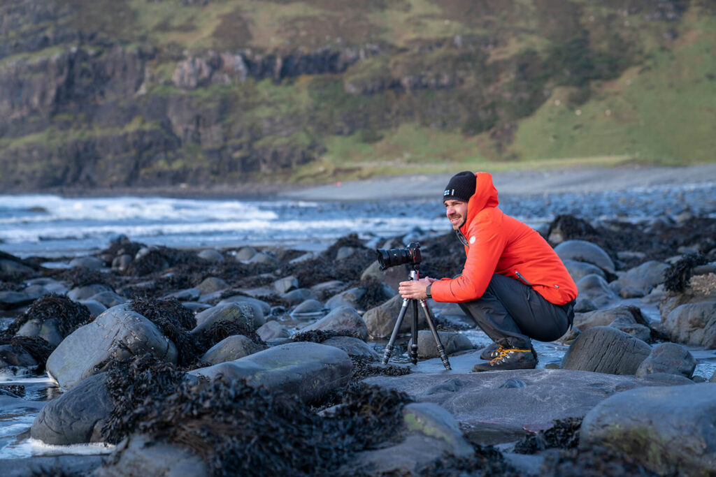 Schottland Talisker Bay_Stefan in Action