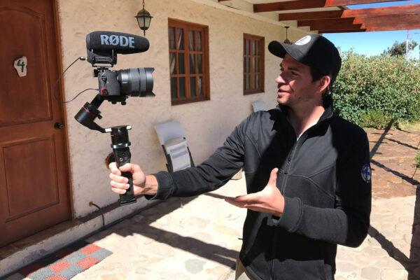 Stefan beim Filmen